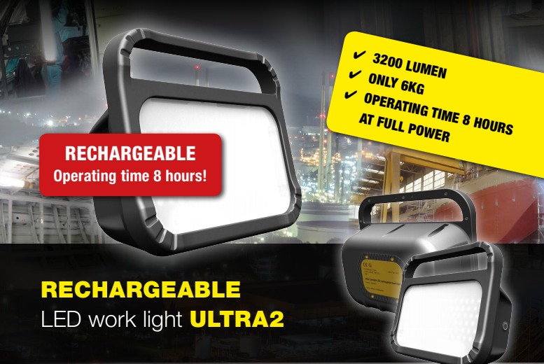 Introducing the ULTRA2 – a fully rechargeable LED work light which is designed to be used day-in-day-out in hazardous areas.